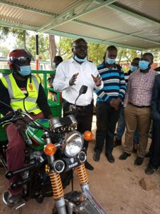 CISS Director addressing Mikayi BodaBoda Groups